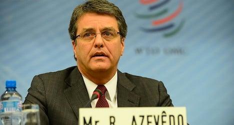 Brazil's Azevedo named to head world trade body
