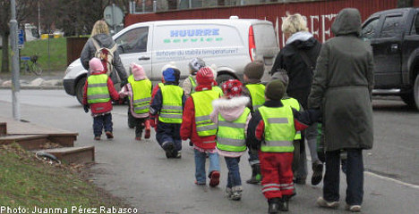 Swedish kids start daycare earlier: report