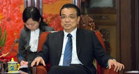 Chinese premier touts trade deal with Swiss