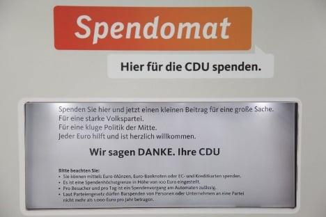 Christian Democrats set up political donation ATM