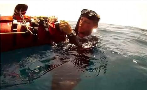 Munich inventor makes splash with sea rucksack