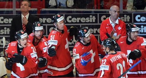 Swiss knock over Canada in world hockey tourney