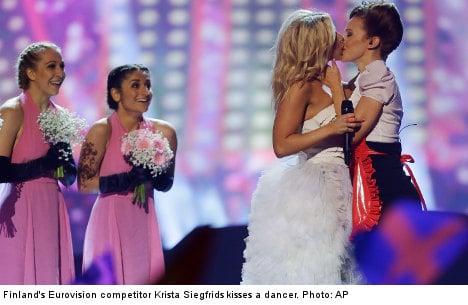 Lesbian kiss fails to shock Eurovision fans