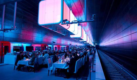 Hamburg's technicolour train stop wins prize