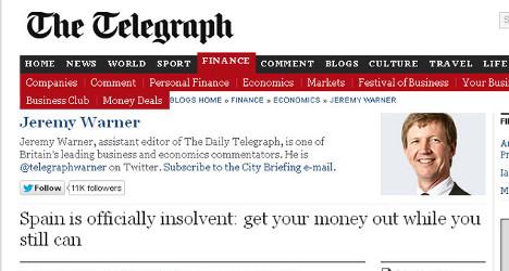 UK newspaper's 'Spain is bust' claim provokes fury