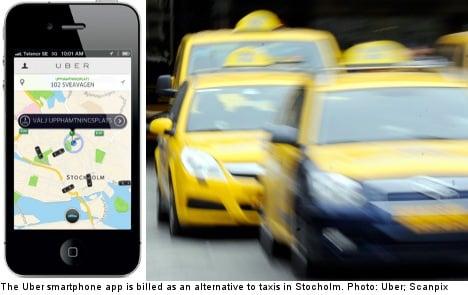 Car service app battles Stockholm taxi system