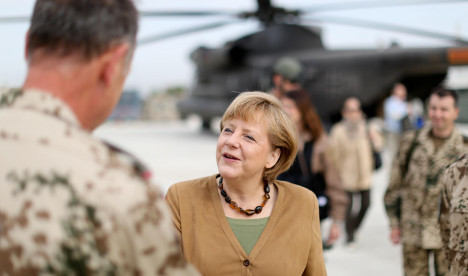 Merkel in surprise visit to Afghanistan troops