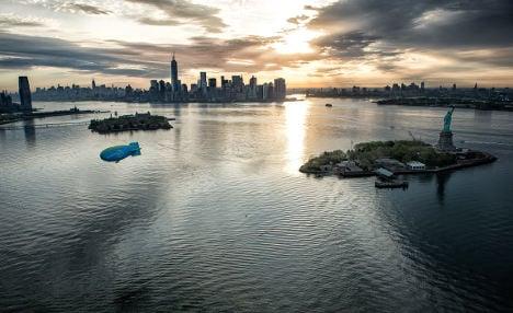 World watches epic hot air blimp flight