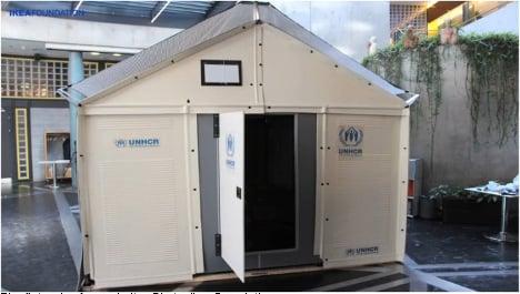 UN agency tests Ikea refugee shelter