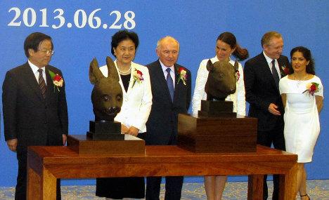 French billionaire returns rare bronzes to China