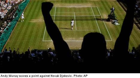 Swedish tennis star hails Murray Wimbledon win