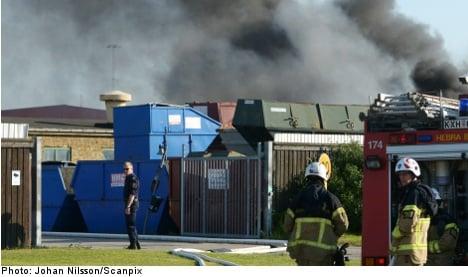 Smoke engulfs Malmö after body shop fire