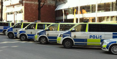 Police car caught in Stockholm street race