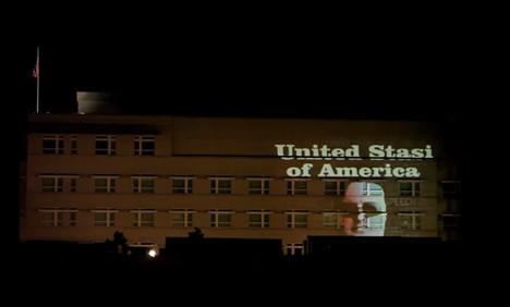 Police investigate 'United Stasi of America' artist
