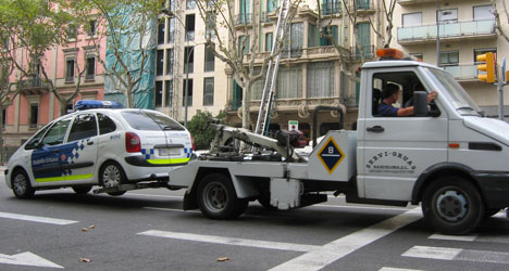 Catalan cop jailed for tow truck revenge