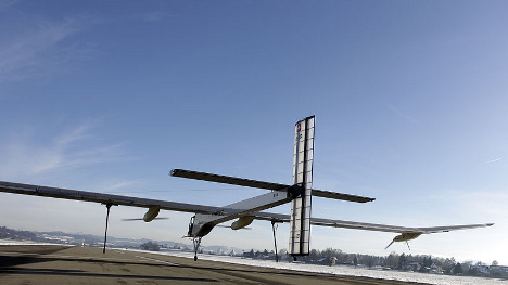 Solar airplane completes US trip in New York
