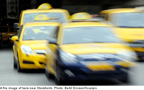 Man steals taxi and crashes into restaurant