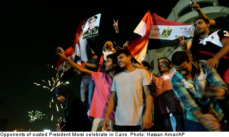 Bildt: respect democratic principles in Egypt