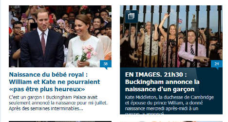 Royal baby fever grips… la France