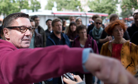 Homeless offer tours of their Berlin