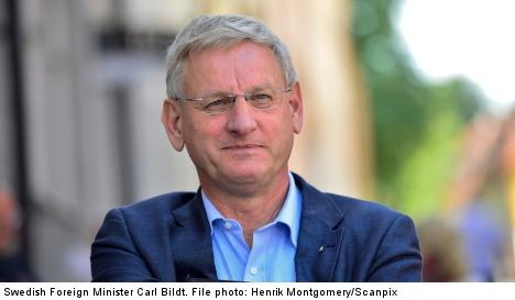 Sweden's Carl Bildt top of the tweep-stakes