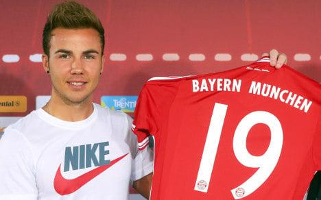 Bayern red-faced after Götze's T-shirt gaffe