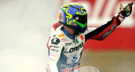 Italian motorcyclist dies in Moscow race