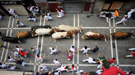 Pamplona prepares for bull run mayhem