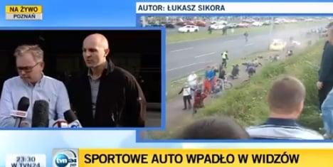 Norwegian race car driver injures 17 in Poland