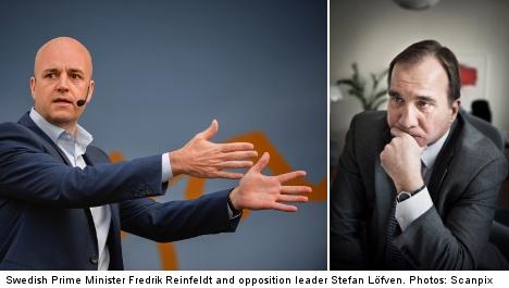 Löfven in Sweden Democrat battle with PM