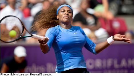 Williams cruises into Swedish Open semis