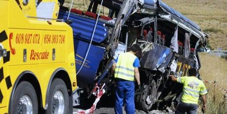 Nine die after bus driver dozes off at wheel