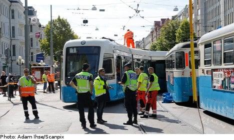 Eight hurt as Gothenburg trams collide