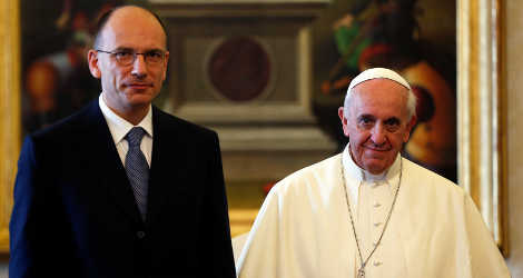 Letta and Pope Francis discuss job creation