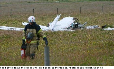 Man dies in southern Sweden plane crash