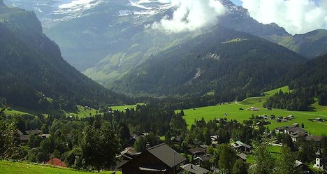 Flash flood soaks resort village in the Vaud Alps