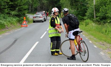 Joyride ice cream truck kills Swedish pedestrian