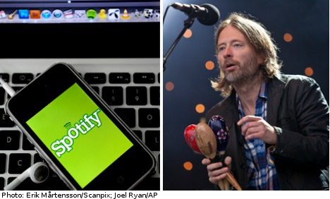 Spotify rejects Radiohead frontman rebuke