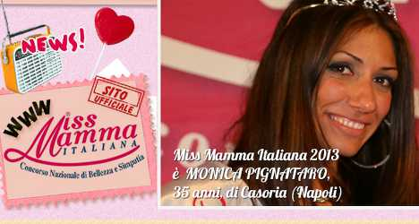 Mother of two crowned Italy's Miss Mamma