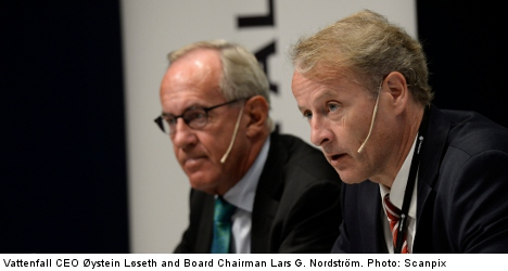Vattenfall splits after massive writedown