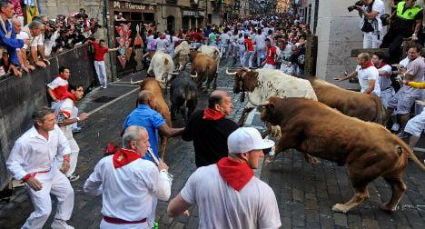 Runner scare in opening Pamplona bull-run