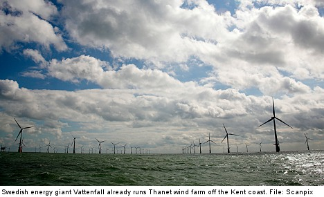 Swedish wind turbines to power UK households