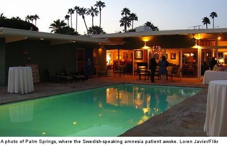 US motel coma man wakes speaking Swedish