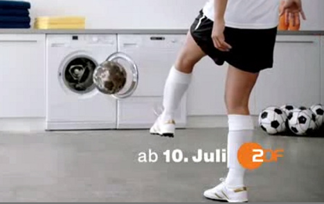 'Sexist' own goal in women's footie advert