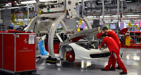 Surprise rise in Italy's industrial output