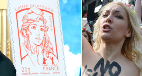 'Femen inspired' French stamp causes uproar