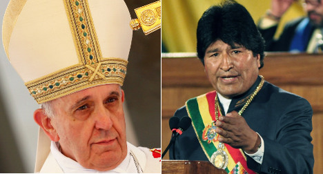 Pope Francis to meet Bolivian president