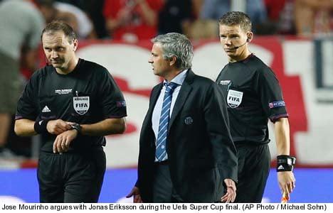 Swedish ref slammed by Jose Mourinho