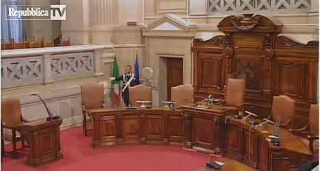 YMCA dance in Berlusconi courtroom