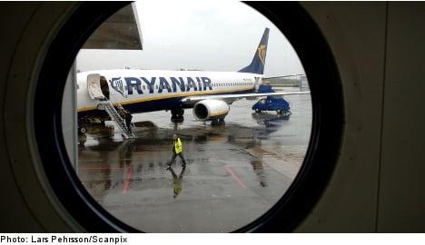 Ryanair 'erased black box' on Sweden landing